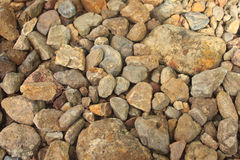 Rocks and pebbles Stock Photography