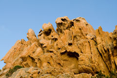 Rocks people faces and animals Stock Photography
