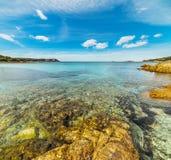 Rocks in Piccolo Pevero beach. Sardinia Stock Image