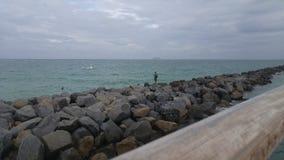 Rocks Pier South Beach Miami Beach. Southernmost point of Miami Beach Royalty Free Stock Photos