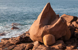 Rocks on the Pink Granite Coast Stock Image