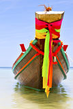 Rocks pirogue  in thailand asia and south china sea Royalty Free Stock Photo