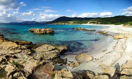 Rocks at Piscinni Beach royalty free stock image