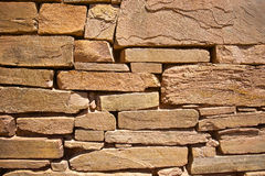 Rocks Placed in Antique Wall Royalty Free Stock Images
