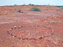 Rocks Placed In A Circle Like This, Let Aboriginies, Know That Water Is Close By. Royalty Free Stock Photography