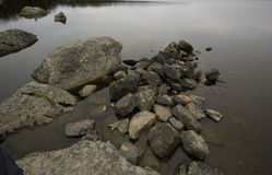 Rocks in a Pond Stock Photos