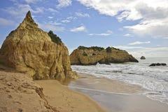 Rocks at Praia da Rocha Portugal Stock Photo