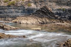 Rocks at Praia de Odeceixe stock image