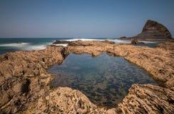 Rocks at Praia de Odeceixe stock images