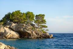 Rocks on the promenade of Brela Royalty Free Stock Photo