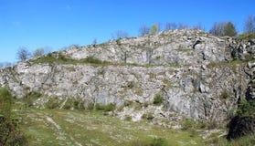 Rocks in quarry Stock Photos