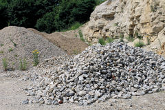 Rocks in a quarry royalty free stock images