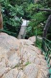 Rocks and railings Stock Photos