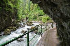 Rocks in the ravine Breitachklamm Oberstdorf, Germany Royalty Free Stock Photos