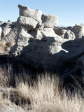 Rocks and Reeds. Geological formations and desert flora in the badlands of the Southwest stock images