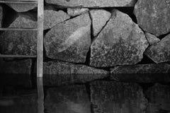 Rocks reflections Royalty Free Stock Photography