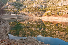 Rocks and reservoir in Spain 4 Royalty Free Stock Photo
