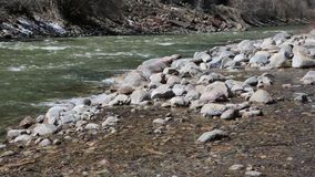 Rocks and river stock video footage