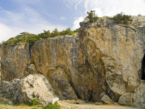 Rocks for rock-climbers. Rocks on which train rock-climbers Royalty Free Stock Photos