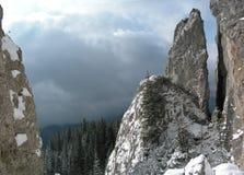 Rocks in Romania mountains. Steep mountain rocks in Rarau (northern Romania Royalty Free Stock Image