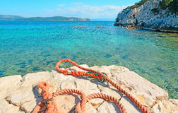 Rocks and rope Stock Photography