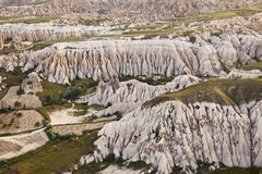 Rocks in Rose Valley of Goreme National Park in Central Anatolia, Turkey. Royalty Free Stock Images