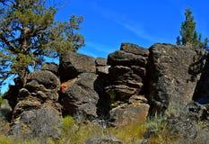 Rocks in a Row. Rock formation on Bessie Butte near Terrebonne, OR Stock Image