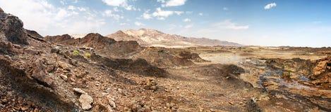 Rocks of Rub' al Khali desert, UAE Royalty Free Stock Photography