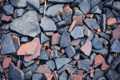 Rocks and rubble on the ground Royalty Free Stock Images