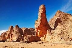 Rocks of Sahara Desert Royalty Free Stock Photography
