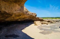 Rocks of the Sam Phan Bok in Thailand Stock Image