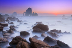 Rocks in san juan de gaztelugatxe Stock Images