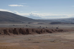 Rocks and sand desert, Chile Royalty Free Stock Images
