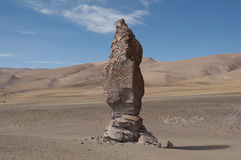 Rocks and sand desert, Chile Stock Image
