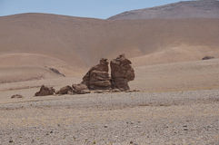 Rocks and sand desert, Chile Royalty Free Stock Photo