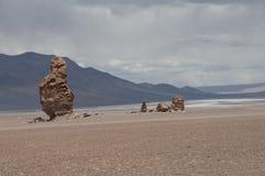 Rocks and sand desert, Chile Stock Image
