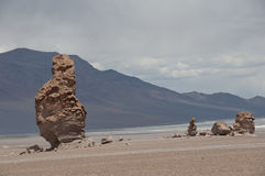 Rocks and sand desert, Chile Royalty Free Stock Image
