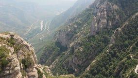 Rocks of Santa Maria de Montserrat Abbey stock image