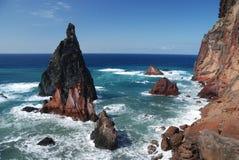 Rocks on sao lourenco, maderia, portugal Stock Image