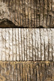 Rocks with sawn stripes Stock Image