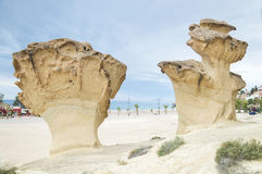 Rocks Sculpted by Wind near Mazarron, Spain Stock Photography