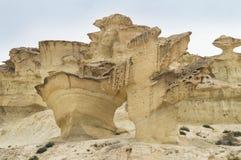 Rocks Sculpted by Wind near Mazarron, Spain Stock Photo