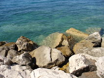 Rocks and the sea. Rocky coast Stock Images