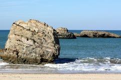 Rocks in the sea. stock photo