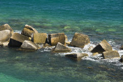 Rocks in sea. Royalty Free Stock Photo