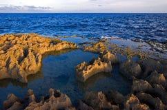 Rocks sea. Ocean water sky Royalty Free Stock Image