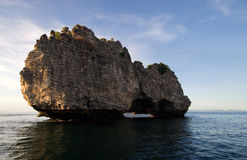Rocks sea. Ocean water sky Stock Photo