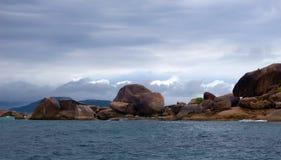 Rocks sea. Ocean water sky Stock Photos
