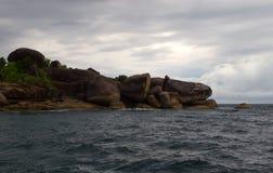 Rocks sea. Ocean water sky Stock Photography