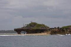 Rocks sea. Ocean water sky Stock Images